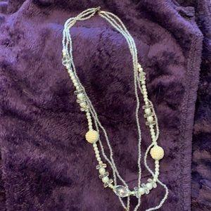 3/$25 White costume jewelry